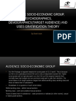 Audience Socio-economic Groups, Psychographics, Demographics and Uses Gratification Theory (2)