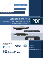 LTRT-12320 Mediant E-SBC for Netia SIP Trunk With Microsoft Lync 2013 Configuration Note Ver. 6.8 (1)
