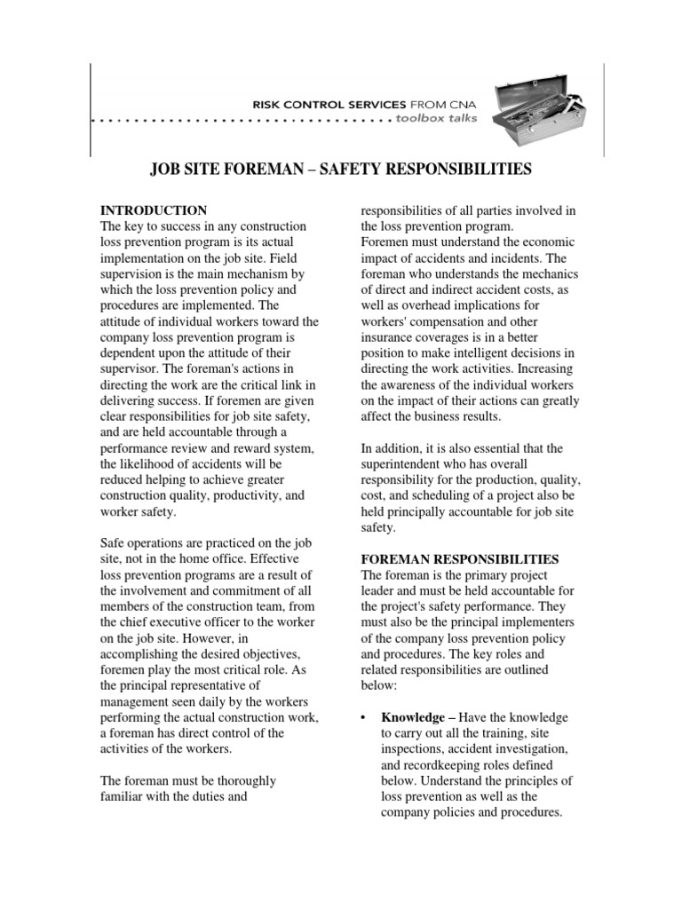 Toolboxtalks Aug4 Safety Occupational Safety And Health