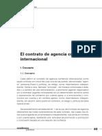 El Contrato de Agencia Comercial Internacional