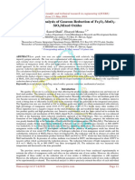 Mathematical Analysis of Gaseous Reduction of Fe2O3-MnO2-SiO2Mixed Oxides