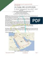 Impact analysis for flooding AREA, In SAUDI ARABIA