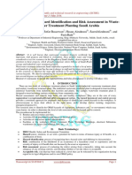 Procedure for Hazard Identification and Risk Assessment in Waste-water Treatment Planting Saudi Arabia