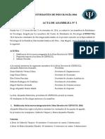 Primera Asamblea General de Estudiantes de Psicología