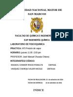 PRESION DE VAPOR