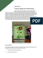 Prakarya Bunga Dari Kulit Bawang