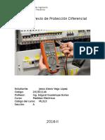 Informe Previo de Protección Diferencial