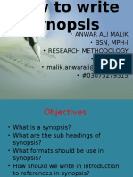 How to Write Synopsis