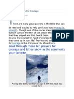 10 Great Prayers for Courage