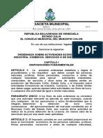 ORDENANZA SOBRE ACTIVIDADES ECONOMICAS DE INDUSTRIA, COMERCIO, SERVICIOS O DE INDOLE SIMILAR..doc