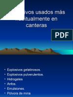 Explosivos Usados Más Habitualmente en Canteras