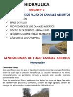[3] Generalidades de Flujo de Canales Abiertos