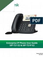Yealink SIP-T21 E2 & T21P E2 User Guide V80 130