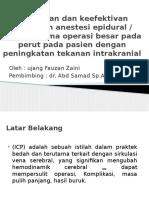 Keamanan Dan Keefektifan Gabungan Anestesi Epidural
