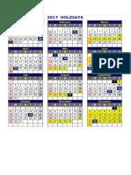 2017 NS School & Public Holidays