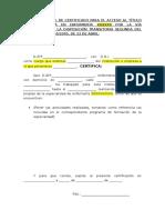 Modelo de Certificado de Servicios Prestados-Especialidades-Via Extraordinaria