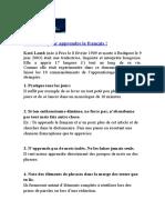 10 Conseils Pour Bien Apprendre Le Francais