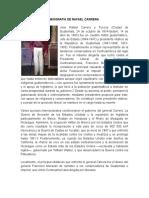 Biografía de Rafael Carrera m.o