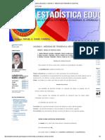 Estadística Educativa I_ Unidad II - Medidas de Tendencia Central