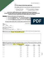 2016-2017 FFA Alumni Scholarship Application