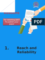 7 Reasons for Selecting IJAET to Publish Paper