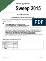 MindSweep 2015 Part 1 Answer Key