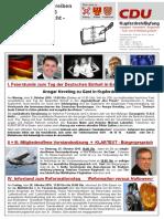Mitgliederrundschreiben CDU Kupferdreh/Byfang Oktober 2016