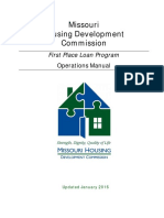 Missouri Housing Development Commission First Home Loan Program Operations Manual January 2016