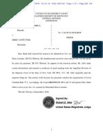 US v. Lostutter - Mark Jaffe Admission Pro Hac Vice