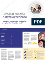 Personal Budgets - A Lived Experience