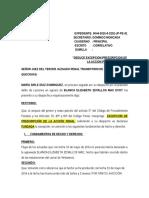 Excepcion de Prescripcion de La Accion Penal- Maria Sirle