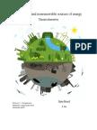 Renewable and Nonrenewable Sources of Energy