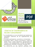 Buena Practica Coordinadora En Acción Comunitaria.
