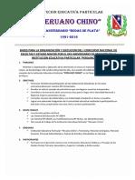 Bases Concurso de Escoltas y Estado Mayor - Peruano Chino