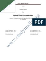 Mech Optical Fiber Communication Report