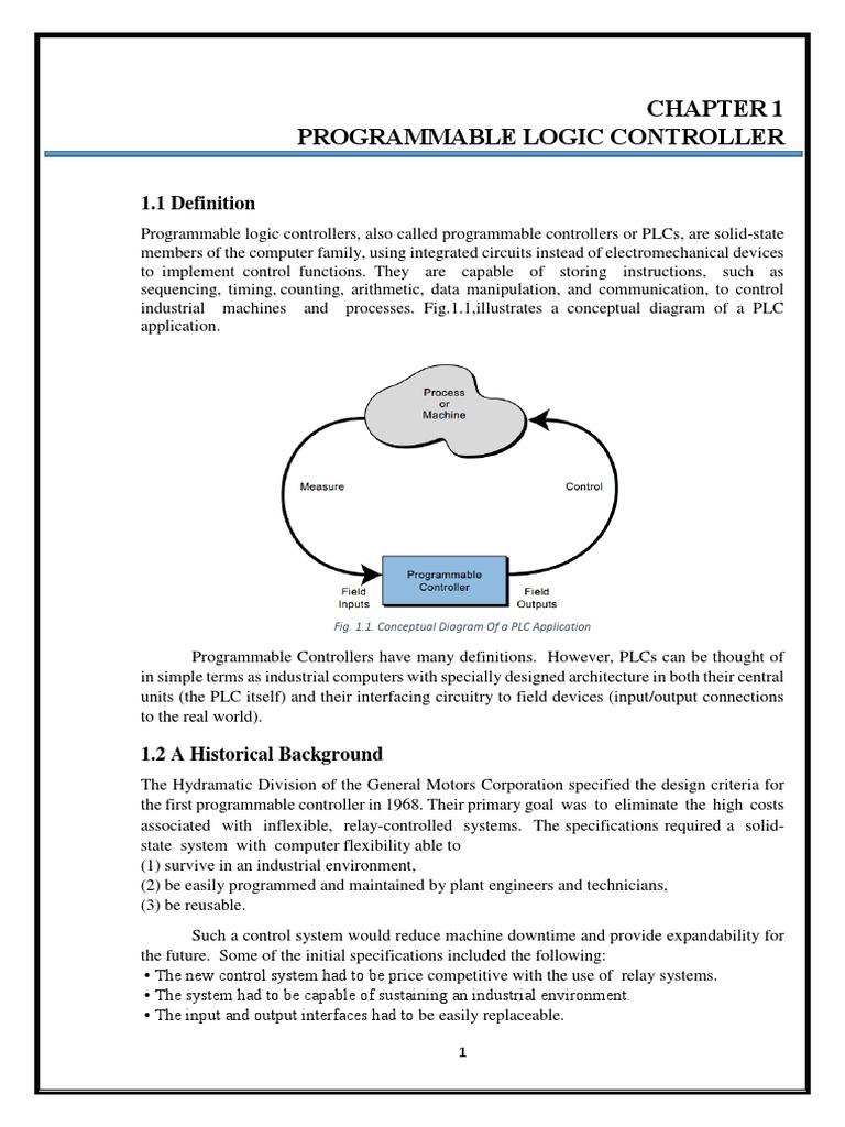 Training Report On Plc Programmable Logic Controller Central Diagram Process Processing Unit