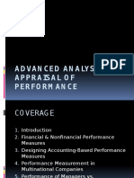 Advanced Analysis & Appraisal of Performance