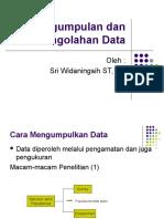 2 Pengumpulan Dan Pengolahan Data