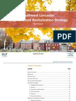 SW Lancaster Neighborhood Revitalization Plan, Core Report