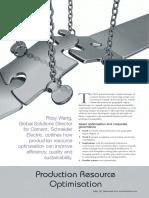 Production Resource Optimization Schneider