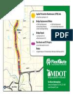 U.S. 23 Flex Route Map