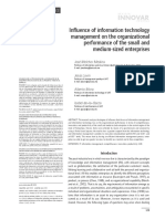 Influencia of Technology Management on the Organizational