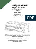 Arcomed Syramed USP-6000 - Maintenance Manual