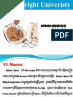 7- Database - Macros