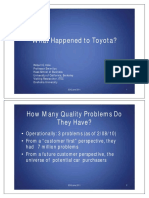 quality issues faced by toyota