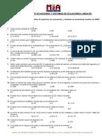 Ecuaciones y Sistemas de Ecuaciones Lineales