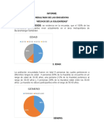 Resultado de La Encuesta, Hechos de Solidaridad.