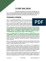 Temarios OPE SAS 2016 Enfermería y Matronas