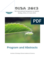 9th International Symposium on Aphids (Abstract Book)