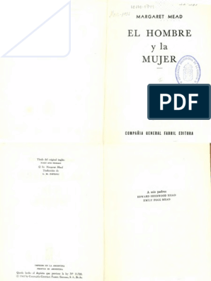 b5c93ebc1 Mead Margaret - El Hombre Y La Mujer(OCR - Opt)